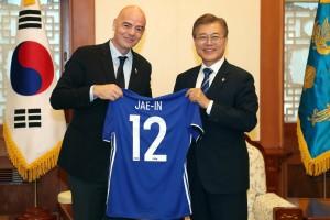 用足球解危 文在寅:盼2030與中、日、北韓合辦世足賽
