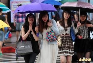 各地有短暫雨、雷雨 明起降雨趨緩