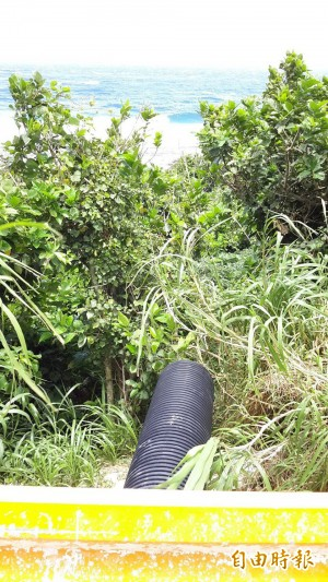 綠島護蟹廊道離地1米高   保育人士:要陸蟹飛越嗎?