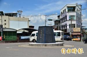 蔣介石銅像拆除 玉井圓環空基座遲未處理