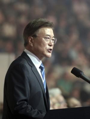 文在寅期盼南、北韓共組隊 參加平昌冬奧