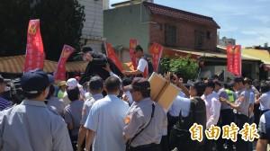 反年改退警抗爭 蔡英文湖口行臨時取消