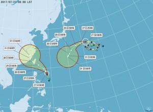 颱風撲台週末泡湯了? 尼莎海陸警報明天恐齊發