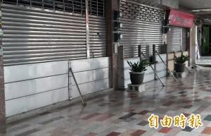 海棠來勢洶洶 台南安中路成了「閘門街」