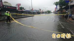南市永康大灣   多路段淹水封閉