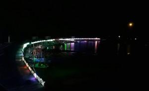 漁火節燦爛夜空 王功漁港入夜竟然暗暝矇