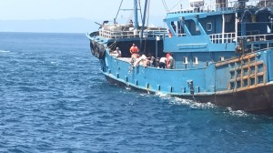 中國漁船到釣魚台捕魚 路過台灣界被活逮