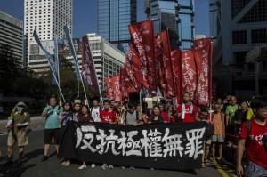 逾14萬港人力挺政治犯 「雨傘運動」後最大集會