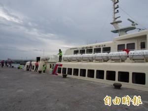 天鴿颱風影響小   綠島交通船下午3時開出2班次
