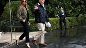 美國第一夫人穿高跟鞋勘災  挨轟「時尚比災民重要」