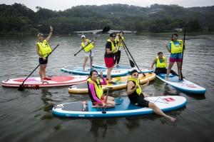 立式划槳又來啦! 青草湖水域遊憩中心16日開幕