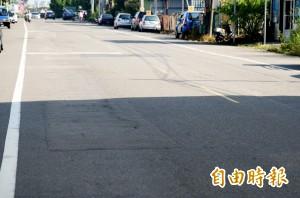 補丁凹陷數不清 南投市區有「破蛋路」