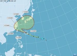 中颱泰利路徑持續北修 預計14時30分發海警