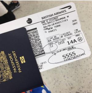 注意!赴美機票上出現「SSSS」  將會被嚴格安檢