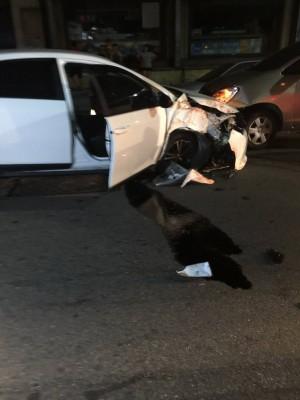 中市警大規模臨檢 不長眼通緝男躲警察撞車被抓