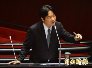 首位閣揆主張台獨 賴清德:我與中國互不隸屬