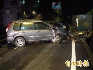酒測值1.22還開車 女子自撞電箱爆頭慘死