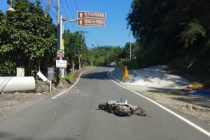 2國中生沒戴安全帽東汴山區騎車自撞 1死1重傷
