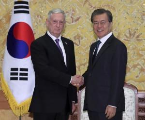 美國防部長:目標不是戰爭 是朝鮮半島無核化