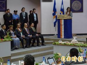 馬紹爾國會演說 蔡總統宣布我南太6友邦免簽
