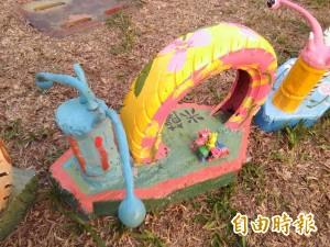 嘉義蝸牛裝置藝術被破壞 鄉親怒:公德心何在?