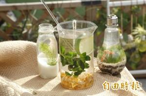 這杯綠茶不能喝!它其實是盆栽啦!