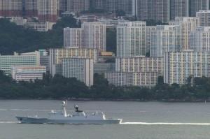 擾台?中國解放軍3艦擦身東部海域 日自衛隊派機監視