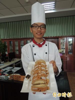 全國烘焙冠軍 羅商學生想出國學藝做台灣味甜點