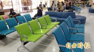 台東機場座椅換新妝 藍天綠水色調迎賓