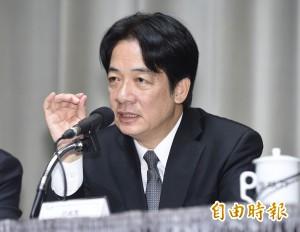 賴揆:蔡總統使命感非常強烈 理應得到更多支持