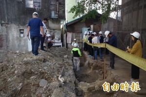 重見諸羅城!嘉義東門派出所開挖 發現疑似城牆遺跡