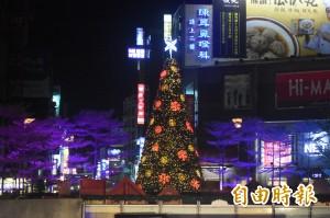9米高耶誕樹點燈 新竹市感恩季開跑