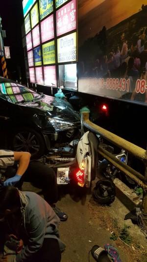 軍人酒駕飆逃衝撞3輛重機 釀5傷