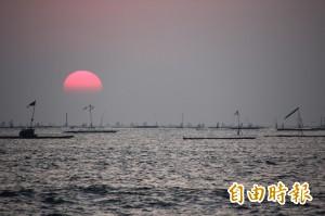 布袋私密景點「小確幸海灘」 夕陽景色迷人