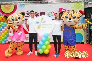 明年全中運在台中 請來世大運英雄陳傑、楊千玫代言