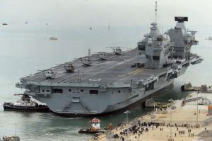 有漏洞!伊莉莎白女王號航母每小時灌進200公升海水