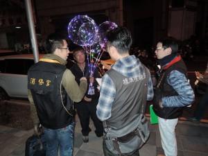 中市稽查「發光氣球」 未發現灌有氫氣商品