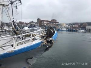 大小船相撞!30噸深澳籍漁船人員均安 4萬噸商船肇逃