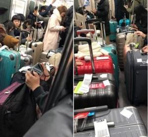 行李堵在日本列車走道 台灣旅客聽到廣播嘻笑、立刻假睡