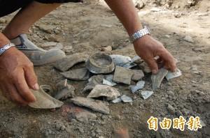 北港朝天宮附近施工開挖 滿地是寶