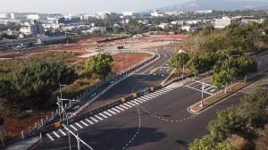 疏運年底花博遊客 后里車站接駁站聯絡道路完工