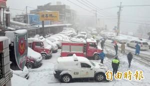 如果拉拉山下雪...公路總局:車輛一律加雪鏈才准上北橫