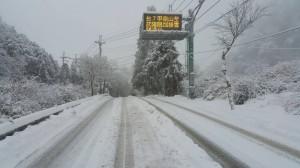 台中市和平區台七甲線持續下雪