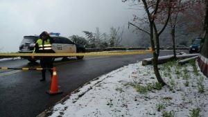 下雪了!竹縣封路 新增五峰鄉路段