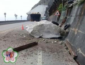 花蓮稍早規模4.7地震   蘇花公路2處岩石崩落佔車道