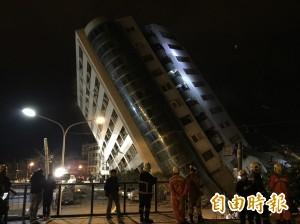 花蓮強震釀多樓塌 雲門翠堤大樓上百人失聯