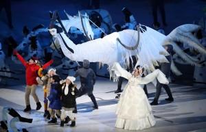 有奇獸! 平昌冬奧開幕式驚見「長頸人面鳥」