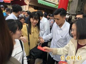 蔡總統到天公廟發紅包   遭3度近距離嗆聲
