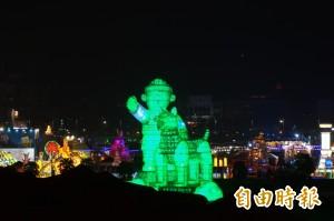 台灣燈會主燈悄悄試燈 元宵才見客