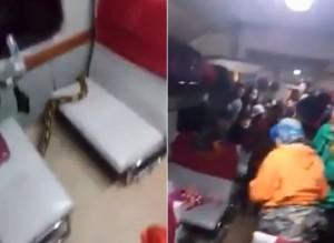 4米大蟒蛇現身火車亂竄 一秒就被2人「淡定逮捕」